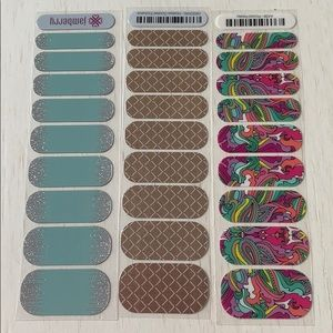 3 sheets of Jamberry Nail Stickers